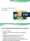 Intensive Intervention-Tier Three Presentation