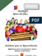 Palabras para la Reconciliacion. Reflexiones en Valores - Colegio Tirso de Molina