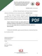 Certificación A-23-02-2012 (Finca de Santa Isabel y los Molinos de Viento)