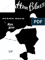 Manhattan Blues - Piano-solo - 1962 - Sheet Music
