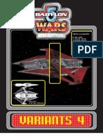 Babylon 5 Wars = Variants-4 = 52 Pgs