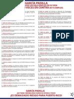 40 Veces en Contra de tu Empleo
