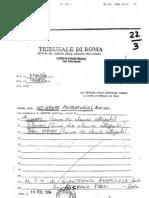2004 - febbraio 16 - Ordinanza di Incidente Probatorio - Tribunale penale di Roma