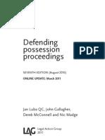 Defending Possesion Proceedings