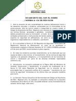 PRONUNCIAMIENTO DEL CAP-RL SOBRE LA NORMA A-130 EN REVISIÓN