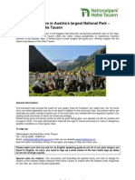 Summer Excursions With the Park Rangers of the National Park Hohe Tauern Salzburg 2011