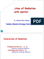 Interaction of Radiation
