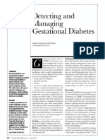 Detecting and Managing Gestational Diabetes
