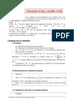 09 Fonctions d'une variable réelle