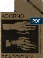Adorno, Theodor - Reacción y progreso y otros ensayos musicales