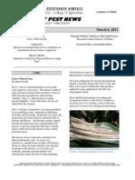 Kentucky Pest News March 6, 2012