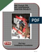 Front Suspension-Rebuild