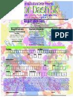 Color Dash Registration Form