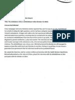 Best Radio Current Affairs Report - Entrant's Statement