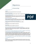 Immuno Learning Objectives