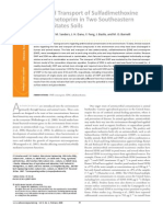 Fate and Transport of Sulfadimethoxine and prim in Two Southeastern United States Soils