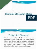 Ekonomi Mikro Dan Makro
