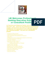 LBI Professional Executive Departmental Objective & Job Description