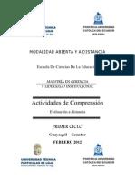 ACTIVIDADES DE COMPRENSIÓN