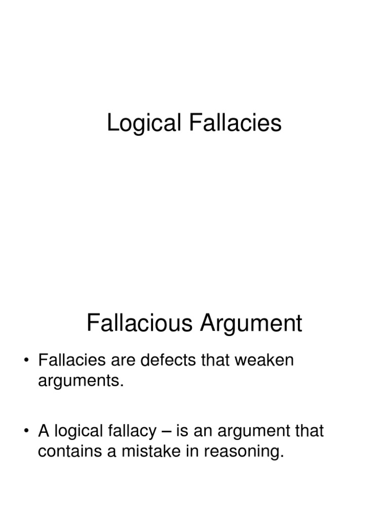 logical fallacies i amp ii revision