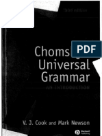 Chomsky s Universal Grammar 3rd Edition Cook