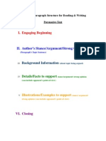 Persuasive Writing Outline and Rubric