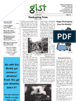 Gist Weekly Issue 1 - Thanksgiving Trivia