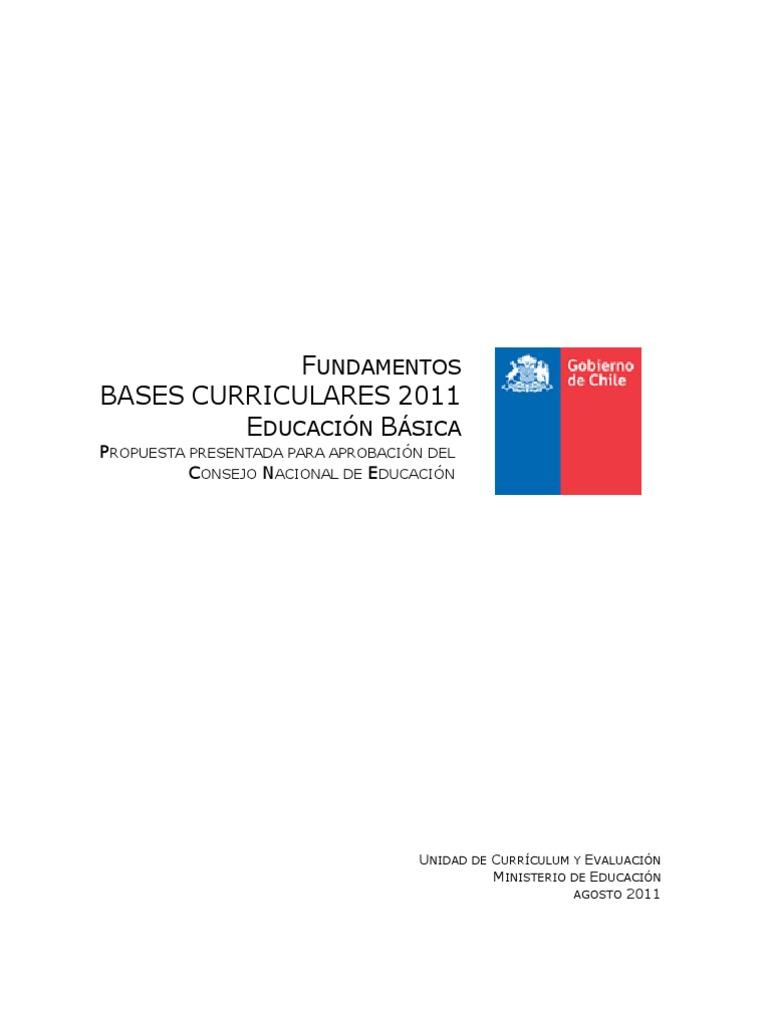 Fundamentación Bases Curriculares.