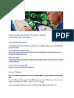 Understanding Carrier Ethernet Throughput FAQ