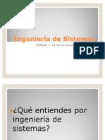1. LA TEORIA GENERAL DE SISTEMAS