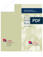 2007 CPR Rules for Non-Administered Arbitration