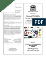 CS FOSS Brochure