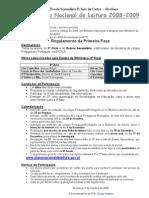 Concurso Nacional de Leitura  2008-09 - informação /1ª fase)