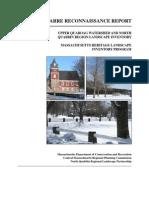 BARRE RECONNAISSANCE REPORT  Spring 2008