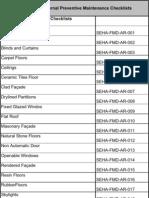PPM Checklist Register