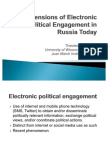 Dimensions of Electronic Political Engagement in Russia Today