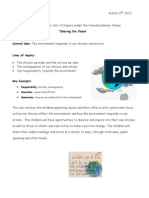 Sharing the Planet- Parent Letter 2012