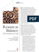Reason as Balance by TJ Winter