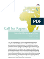 CfP International Peacekeeping in Africa 2012