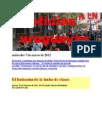 Noticias Uruguayas miércoles 7 de marzo de 2012