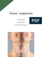 Thyroid Malignancies