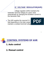 Automatic Voltage Regulator (AVR) PPT