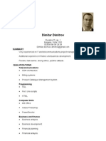 Dimitar Dechkov Dimitrov - Resume