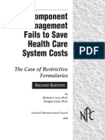 Component Management Fails to Save Health Care System Costs