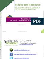 La vente en ligne dans le tourisme - Marketing & Tourisme - Fev 2012