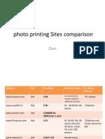 Sites Comparison