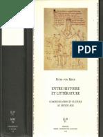 MOOS Peter von, Entre Histoire et littérature, Communication et culture au MA (2005)