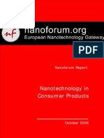 Nanotechnology in Consumer Products