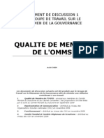 Document de Discussion 1 - Qualite de Membre de l OMMS