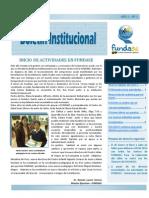 BOLETÍN MENSUAL- MES DE ENERO 2012